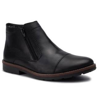Členkové topánky Rieker 35381-00 Prírodná koža(useň) - Lícova