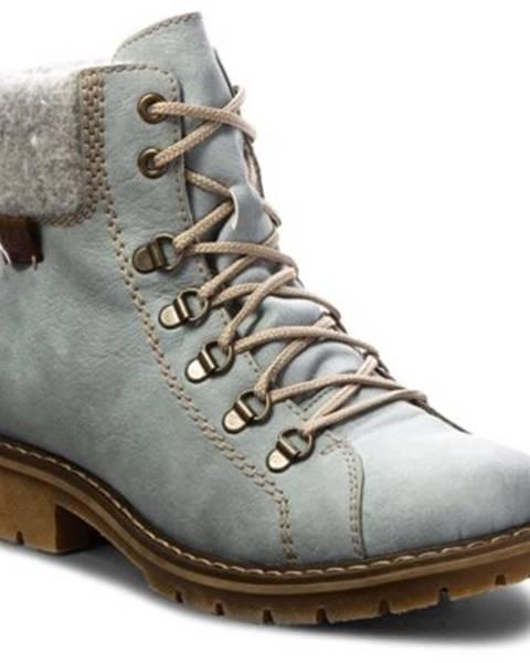 Svetlomodré topánky Rieker