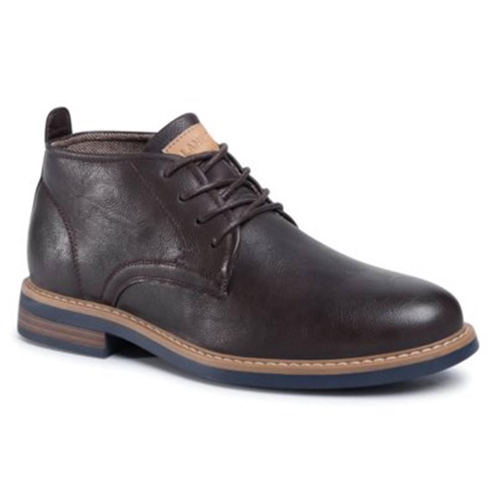 Lanetti Šnurovacia obuv Lanetti MYL8248-3 Ekologická koža/-Ekologická koža