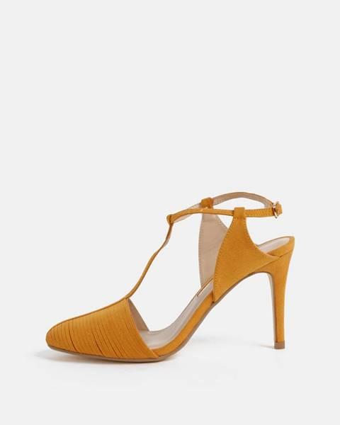 Oranžové topánky Dorothy Perkins