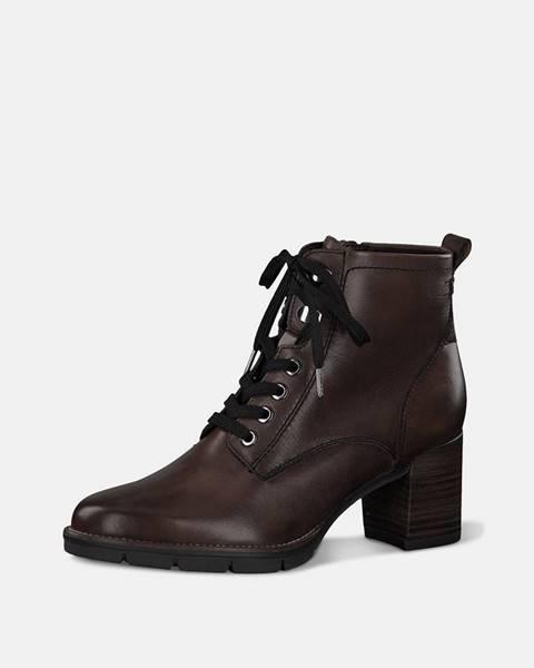 Tmavohnedé topánky Tamaris