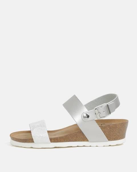 Strieborné sandále OJJU