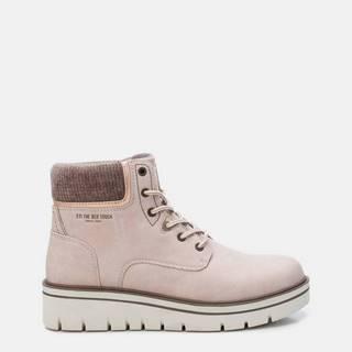 Svetloružové dámske členkové topánky Xti