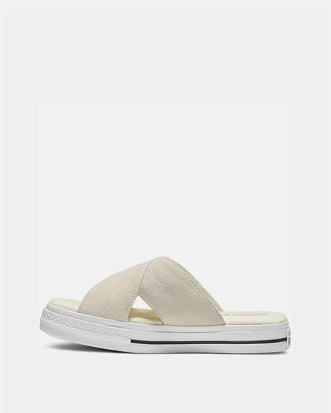 Béžové papuče Converse