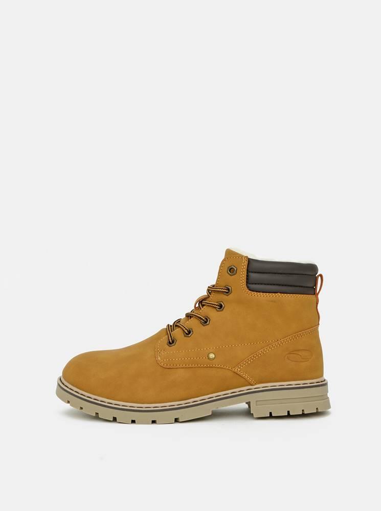 loap Horčicové dámske zimné topánky LOAP