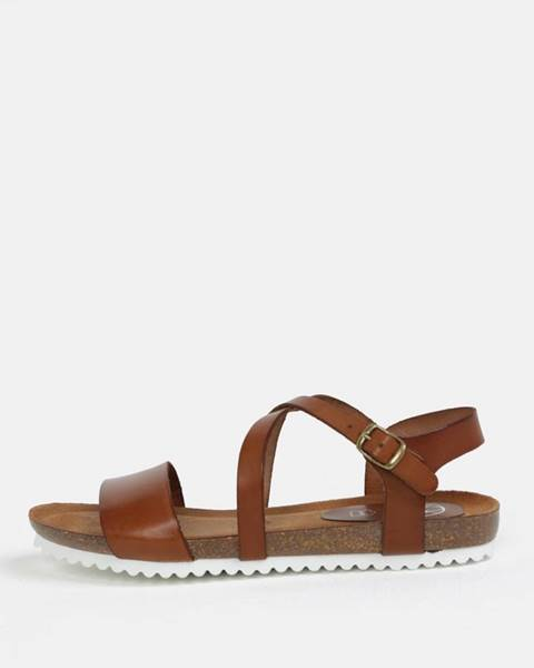 Tmavohnedé sandále OJJU