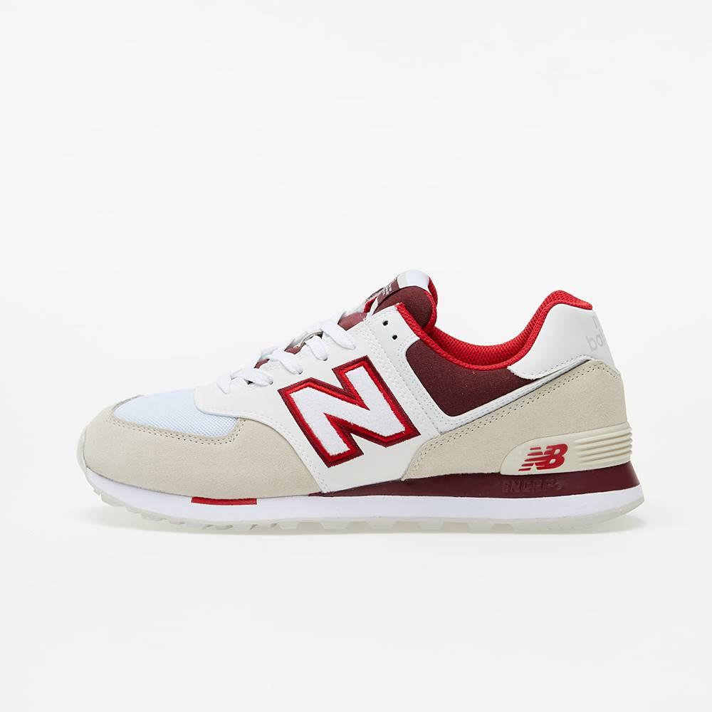 New Balance 574 Beige/ White/ Red