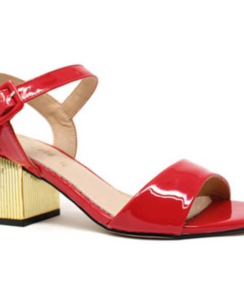 Červené sandále Gold gold
