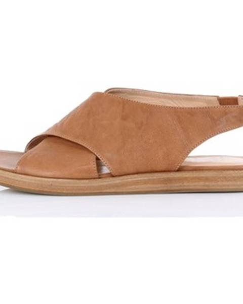 Hnedé sandále Salvador Ribes