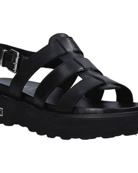 Čierne sandále Cult