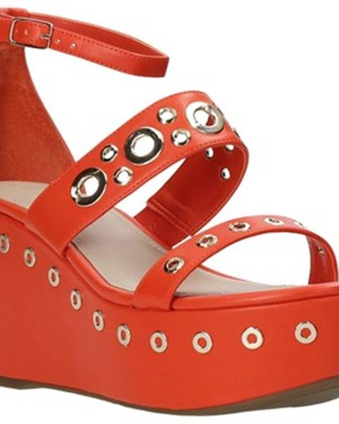 Oranžové sandále Guess