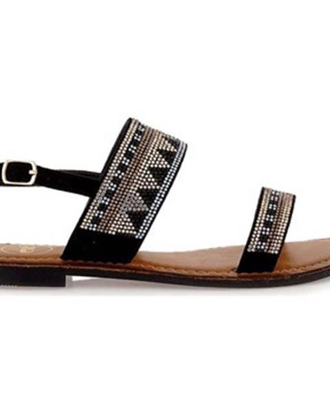 Čierne sandále Exé Shoes