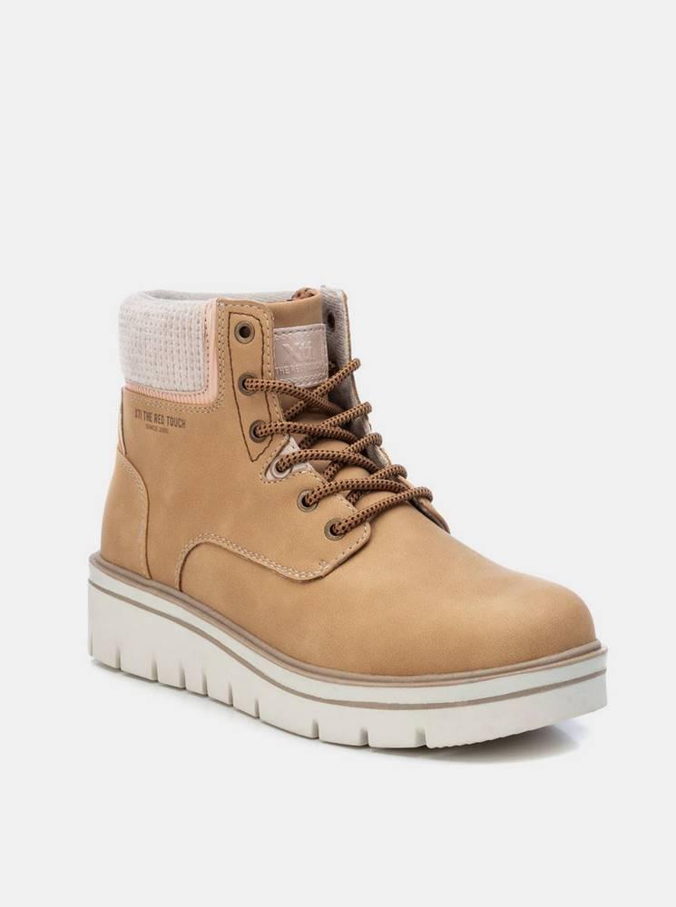 Xti Hnedé dámske zimné členkové topánky Xti