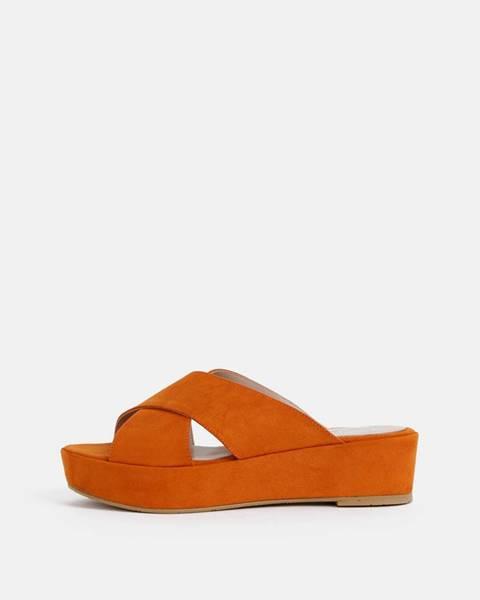 Oranžové papuče OJJU