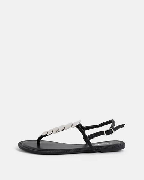 Čierne sandále hailys