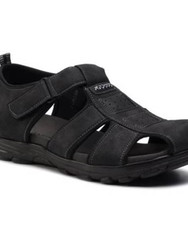 Čierne sandále Lanetti