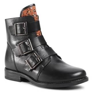 Šnurovacia obuv Lasocki WI16-ALBA3-05 Prírodná koža(useň) - Lícova