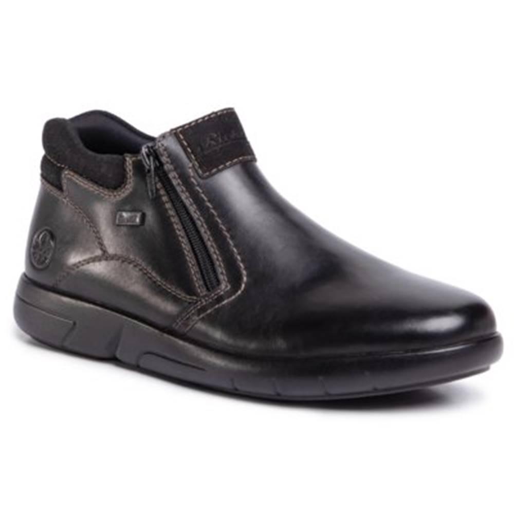 Rieker Členkové topánky Rieker B2792-00 Prírodná koža(useň) - Zamš