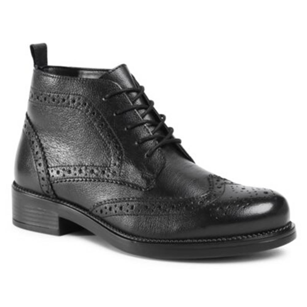 Lasocki Šnurovacia obuv Lasocki WI23-TALLIN-03 Prírodná koža(useň) - Lícova