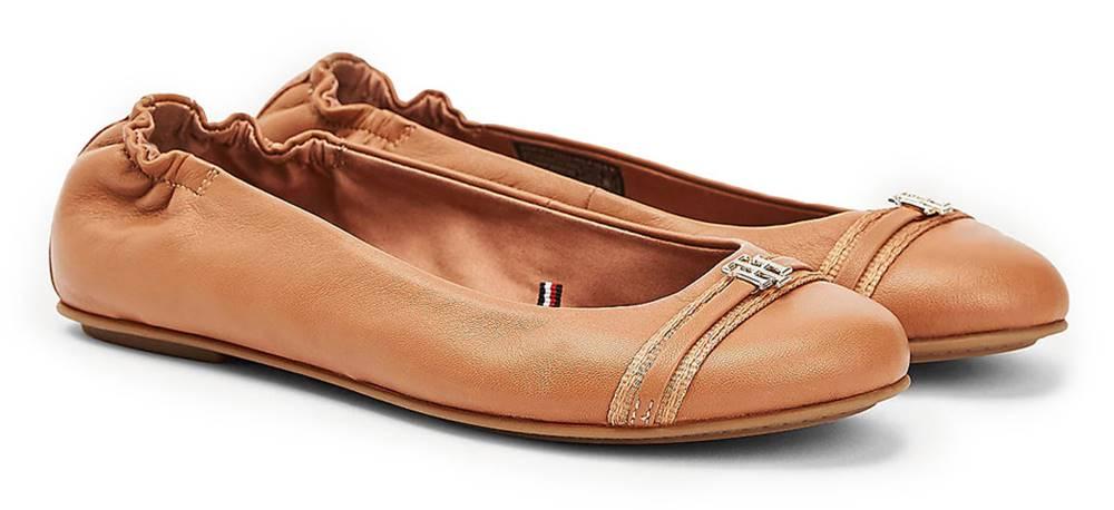 Tommy Hilfiger Tommy Hilfiger karamelové balerínky Block Branding Ballerina Copper Canyon