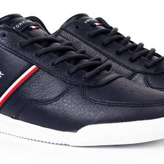 Tommy Hilfiger modré pánske kožené tenisky Lightweight Leather Mix Sneaker Desert Sky