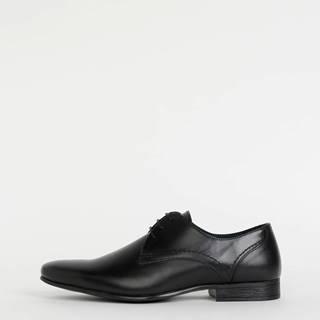 Čierne kožené poltopánky Burton Menswear London Sapson