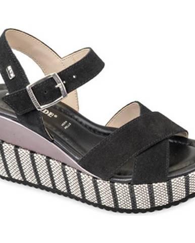 Čierne sandále Valleverde
