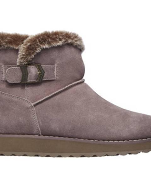 Fialové topánky Skechers