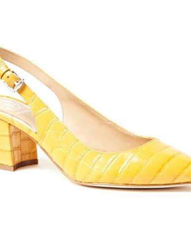 Žlté lodičky Guess