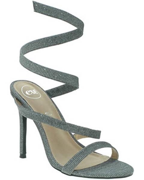 Strieborné sandále Exé Shoes
