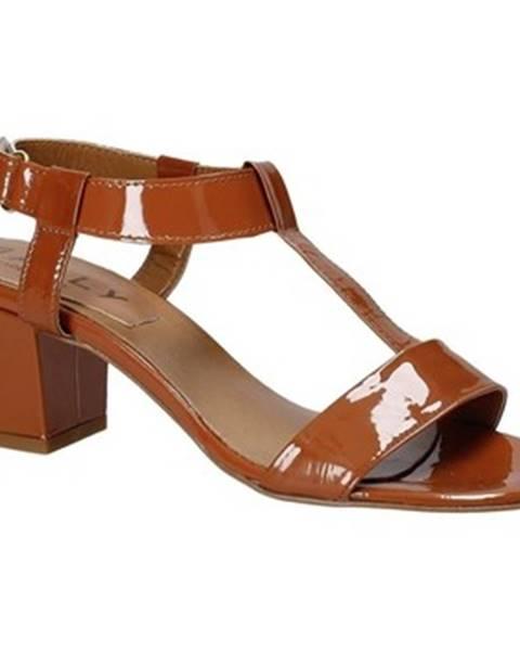 Hnedé sandále Mally
