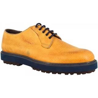 Derbie Leonardo Shoes  1010-1 PE PIUMA OCRA