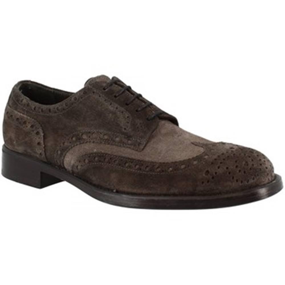 Leonardo Shoes Derbie Leonardo Shoes  248-4963 VELOUR LAVAGN ARDESIA