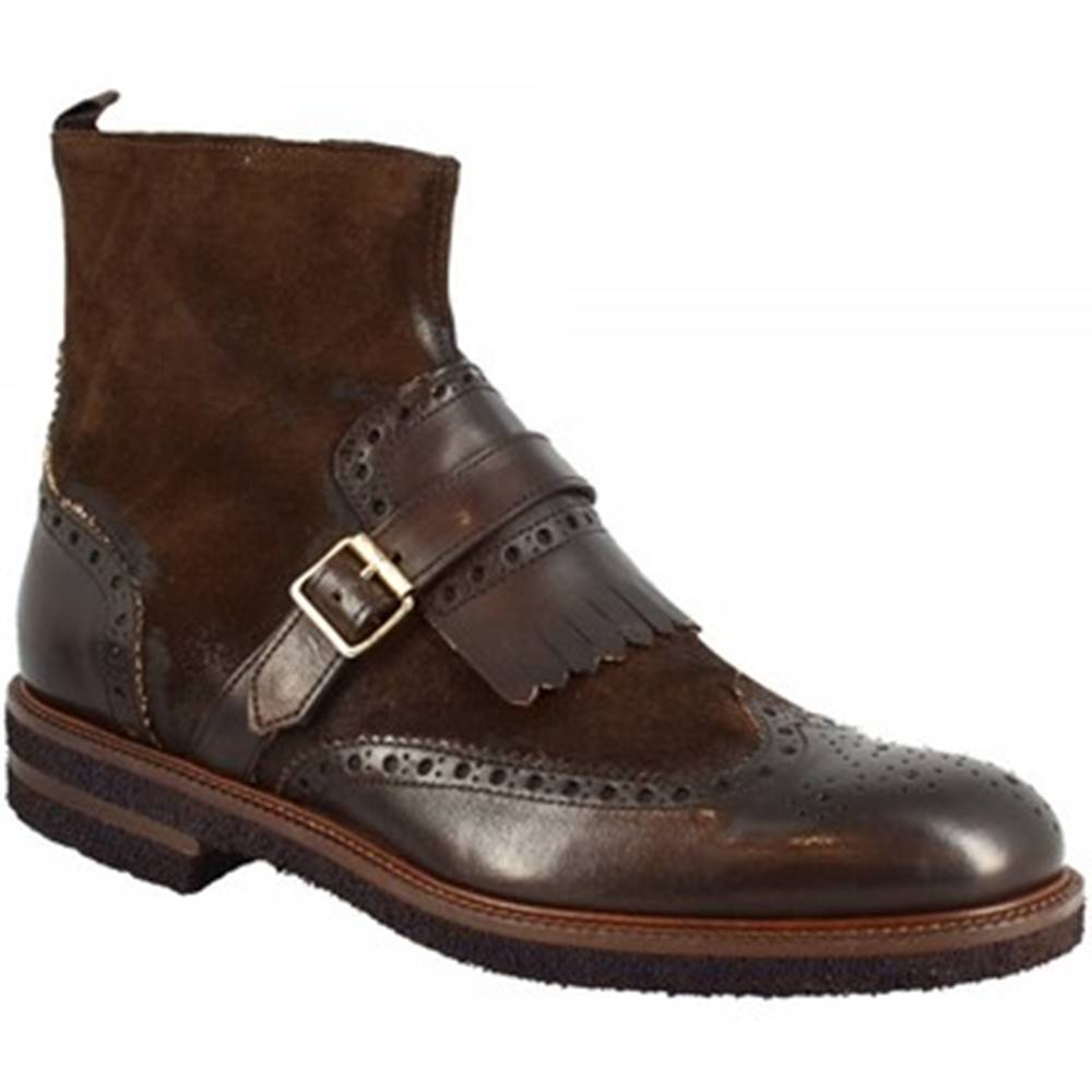 Leonardo Shoes Polokozačky Leonardo Shoes  356-69 PE CAMOSCIO TM