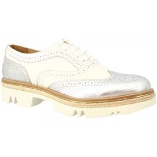 Derbie Leonardo Shoes  324-17 PE BOTTOLATO BI ARGENTO