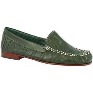 Mokasíny Leonardo Shoes  2803 VITELLO VERDE
