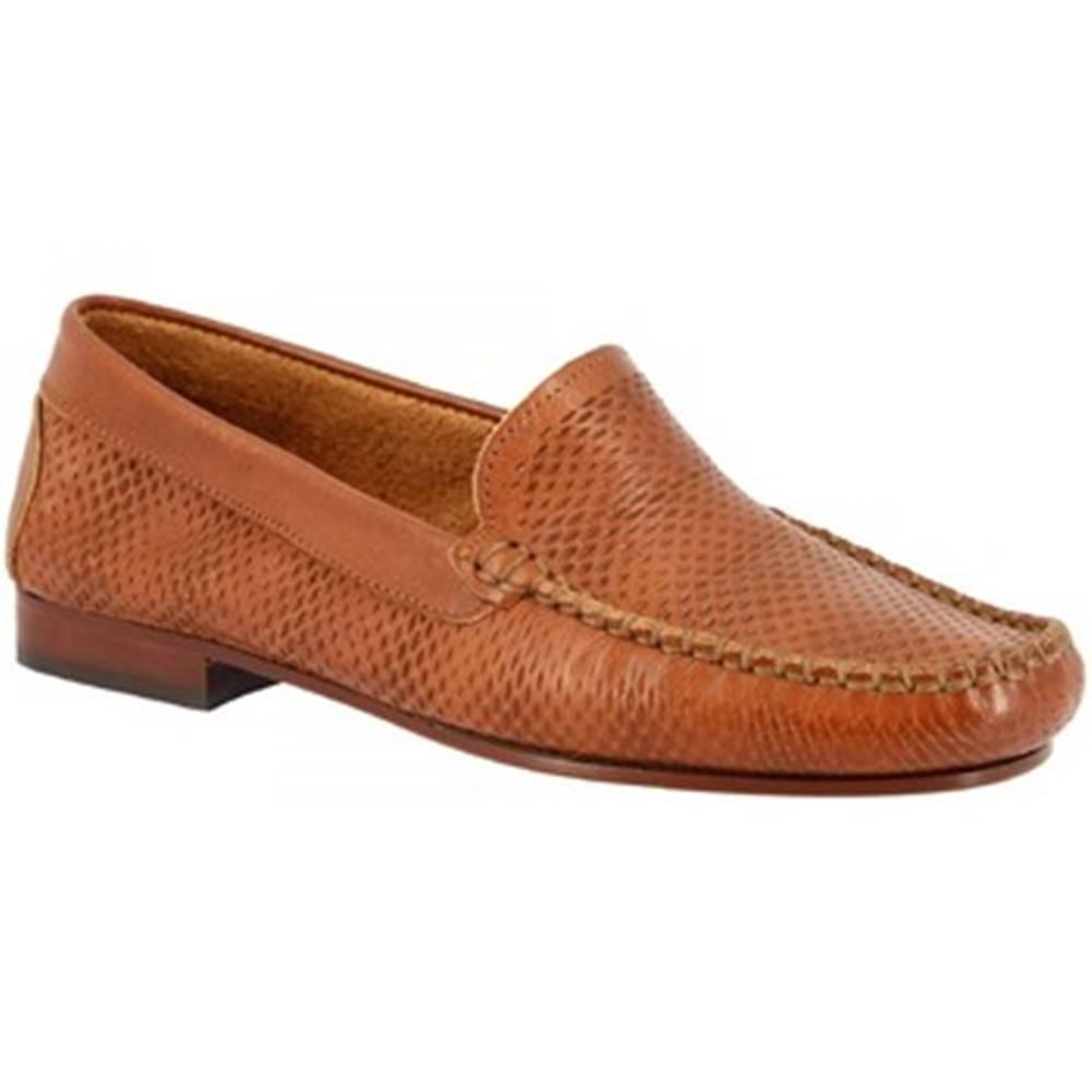 Leonardo Shoes Mokasíny Leonardo Shoes  2803 VITELLO CUOIO