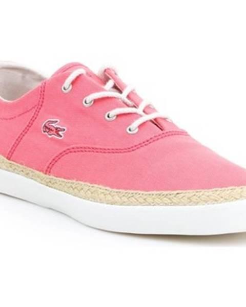 Ružové espadrilky Lacoste