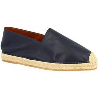 Espadrilky Leonardo Shoes  UOMO FLEX VITELLO BLU