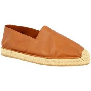 Espadrilky Leonardo Shoes  UOMO FLEX VITELLO CUOIO