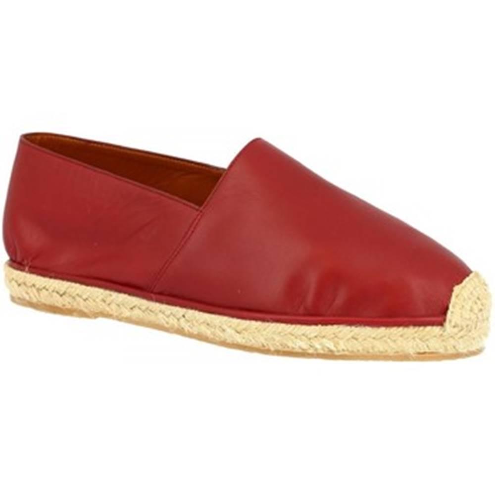 Leonardo Shoes Espadrilky Leonardo Shoes  UOMO FLEX VITELLO ROSSO