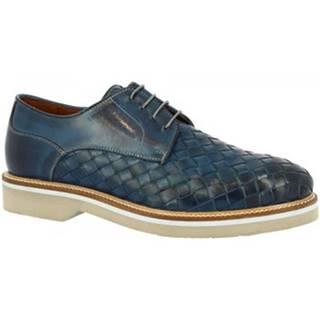 Derbie Leonardo Shoes  07702 BLUE