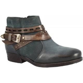 Polokozačky Leonardo Shoes  114212 PIOMBO CACAO