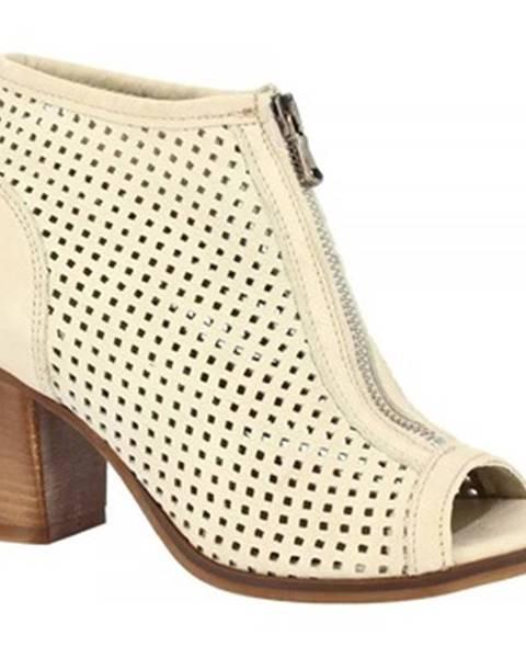 Biele sandále Leonardo Shoes