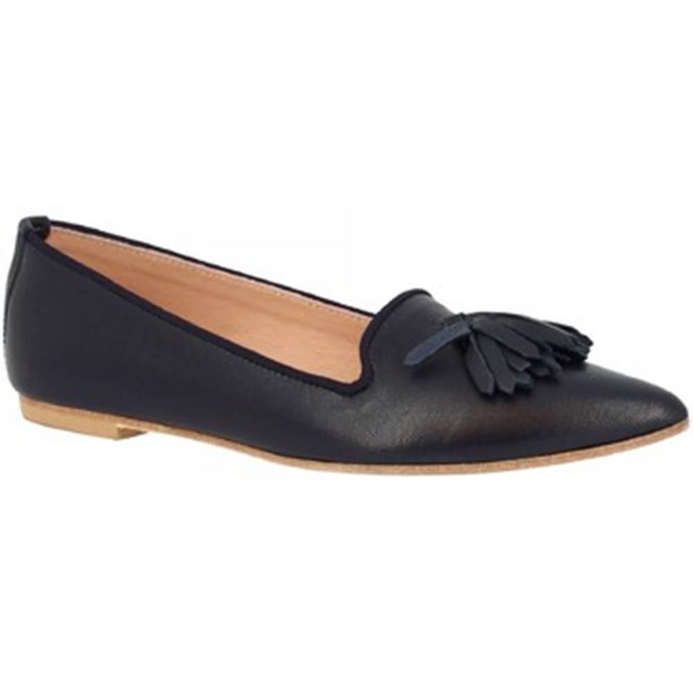 Leonardo Shoes Balerínky/Babies Leonardo Shoes  117-20 NAPPA BLU