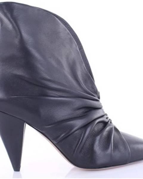 Čierne topánky Isabel Marant