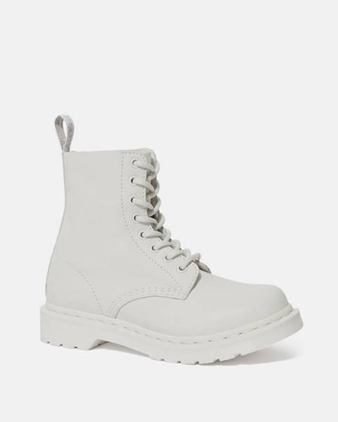 Biele topánky Dr. Martens
