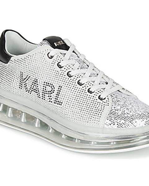 Strieborné tenisky Karl Lagerfeld