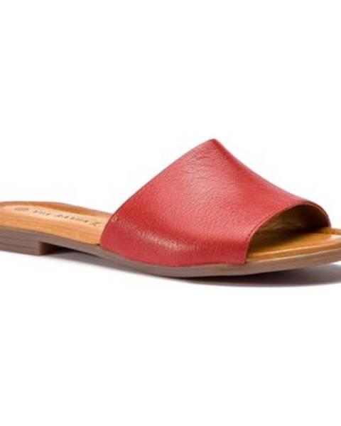 Červené topánky Via Ravia