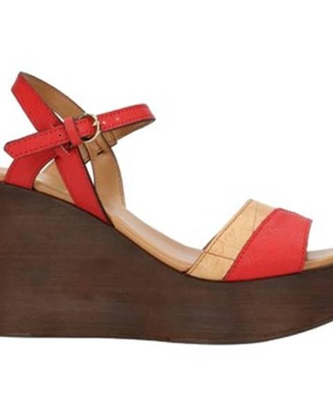 Červené sandále Alviero Martini